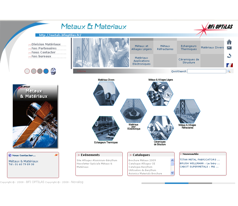 <p>Métaux et Alliages</p>  <p>Groupe BFI Optilas</p>